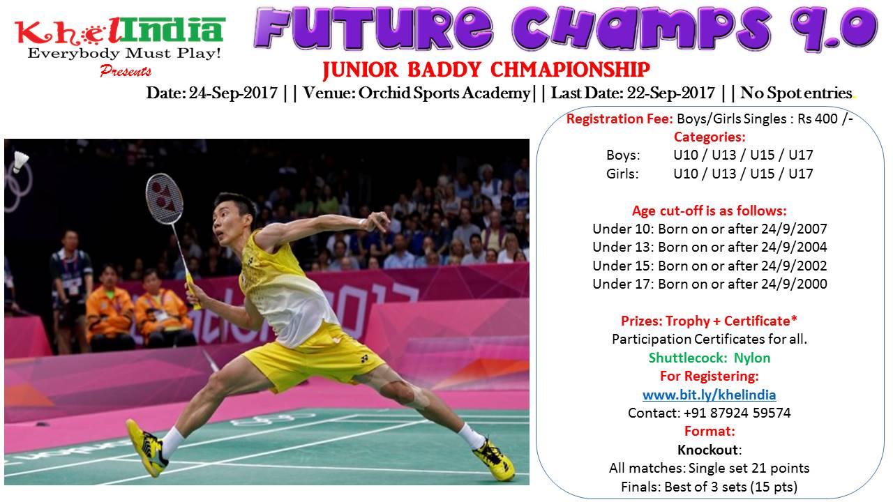 KhelIndia Future Champs 9 0 - Junior Baddy Championship